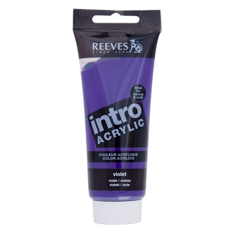 bunnings acrylic paint reeves intro acrylic paint 100ml violet bunnings warehouse