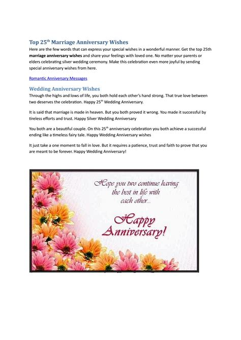Wedding Anniversary Quote To The Elders by Top 25th Marriage Anniversary Quotes By Angela Rexario Issuu