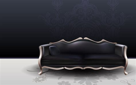 dark couch black sofa wallpapers and images wallpapers pictures