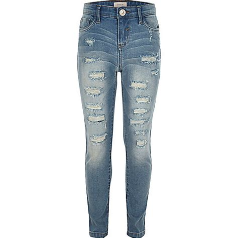 girls skinny jeans girls blue ripped amelie super skinny jeans skinny jeans