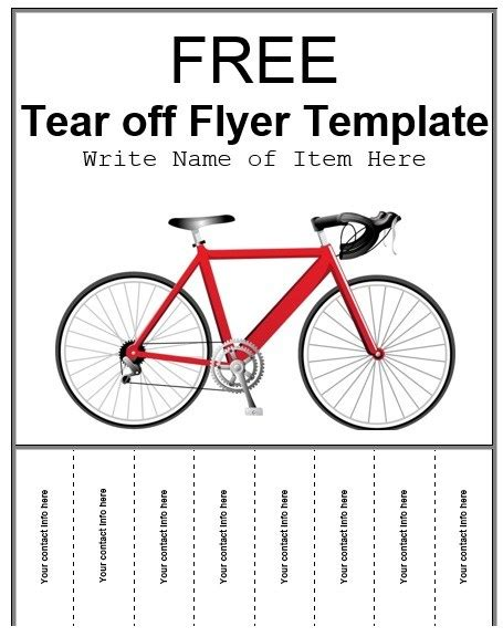 tear off tabs flyer template 4 free templates format