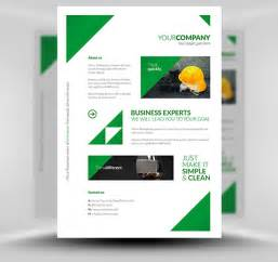 Free Templates For Flyer by Free Clean Corporate A4 Flyer Poster Template