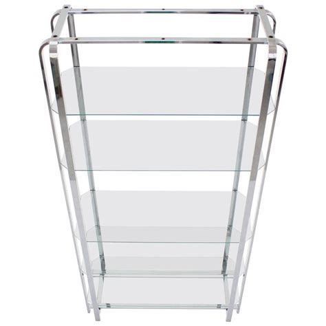 etagere chrom mid century modern chrome and glass 201 tag 232 re for sale at