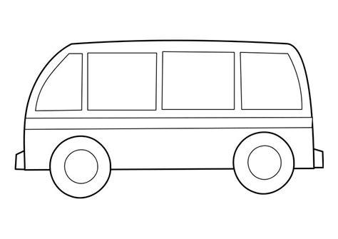 Kleurplaat Bus Afb 22855 Vw Coloring Page