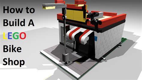 build a shop how to build a lego bike shop custom mod of set 7641