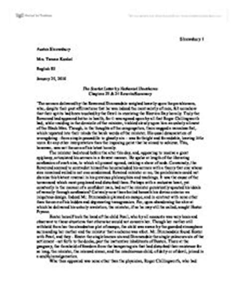 Scarlet Letter Book Review Essay by Scarlet Letter Ending Rewrite A Level Miscellaneous Marked By Teachers