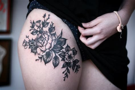 sensual tattoo designs thigh venice designs