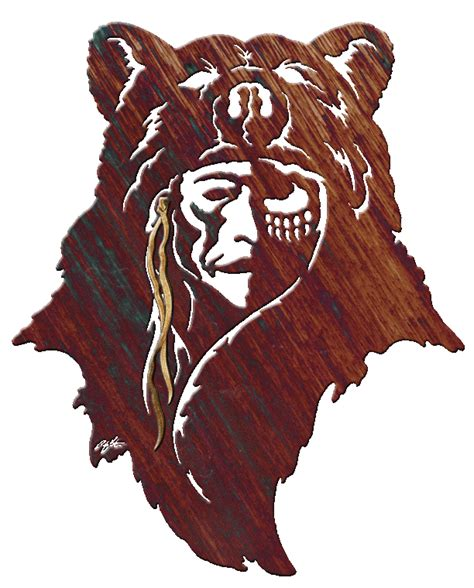 native american bear tattoos american large image