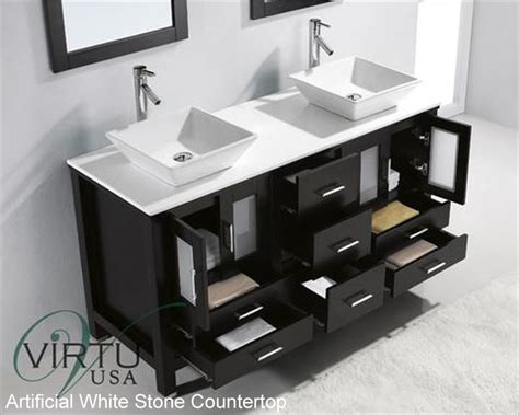 bathroom vanities 60 double sink virtu usa 60 quot double sink bathroom vanity bradford