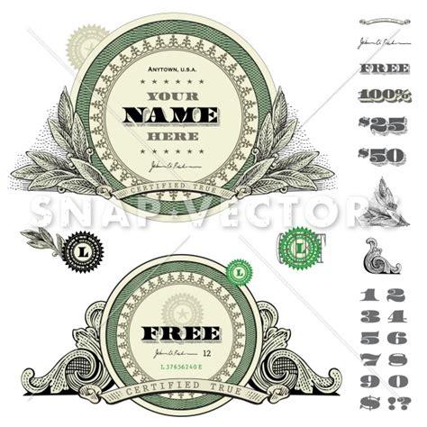 money dollars and design elements vector vector round money frame set snap vectors clipart