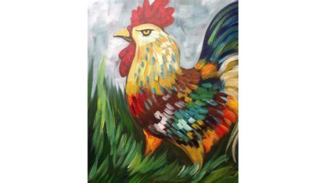 Jy Abstrak Dres Easy Rooster Painting Acrylic Tutorial The Sherpa