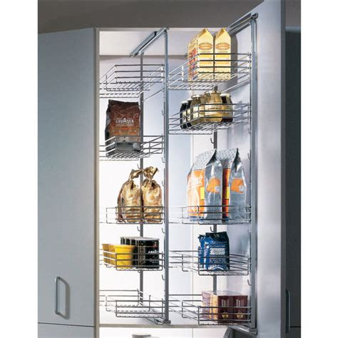 Hafele Pantry by Pantry Fittings Single Extension Pantry Pull Out By