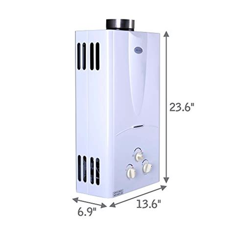 tankless water heater 10 gpm marey ga10ng power gas 10l 3 1 gpm natural gas tankless
