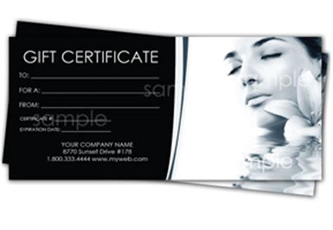 spa gift certificate templates easy to use gift certificates