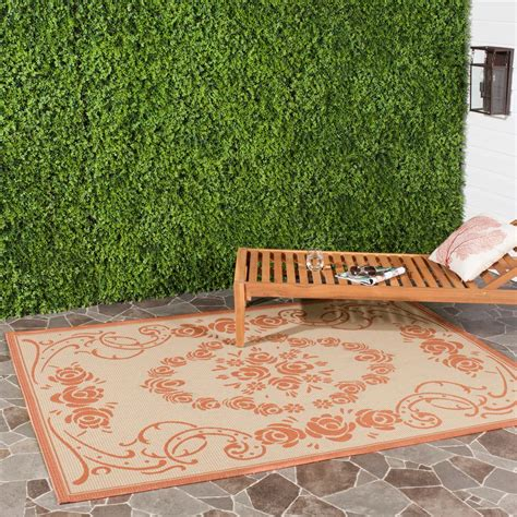 8 foot indoor outdoor rugs safavieh courtyard terracotta 8 ft x 11 ft indoor outdoor area rug cy1893 3201 8 the