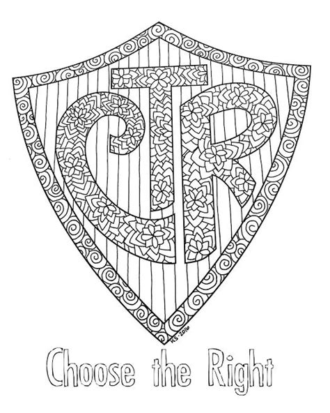 lds coloring pages ctr shield lds ctr coloring pages printable sketch coloring page