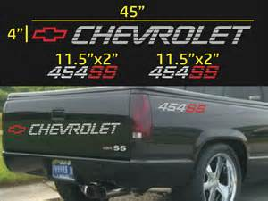 chevrolet 454 ss tailgate bed vinyl decal stickers set