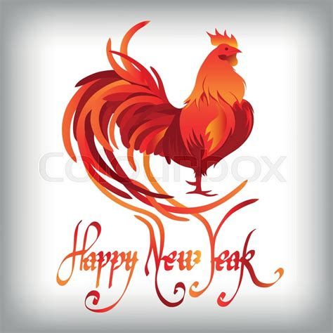 new year rooster greetings rooster symbol of 2017 on the calendar happy