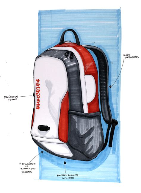 patagonia backpack design on behance