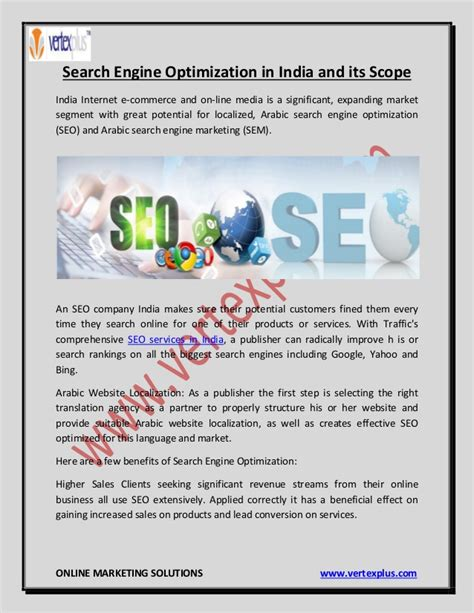 Search Engines India Search Engine Optimization In India And Its Scope