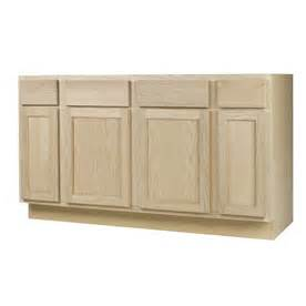 Unfinished Kitchen Base Cabinets Lowes Shop Continental Cabinets Inc 60 In W X 34 5 In H X 24 In D Unfinished Oak Sink Base Cabinet