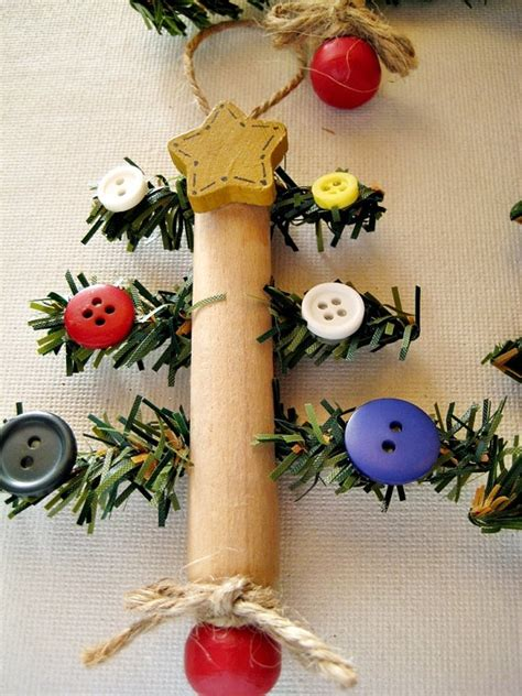clothespin christmas tree ornament using old style