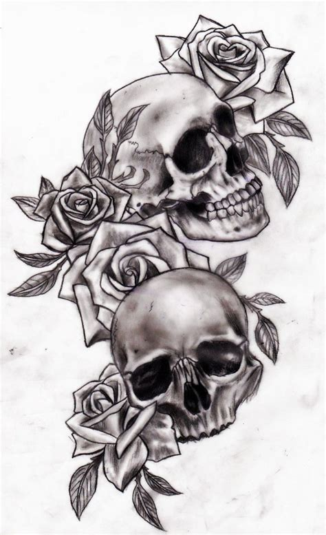 skull rose tattoo design skull and roses chest interior home design