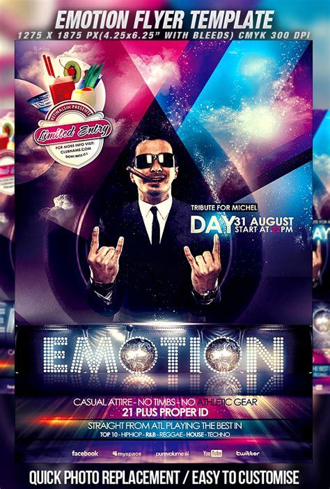 psd emotion flyer template by retinathemes on deviantart