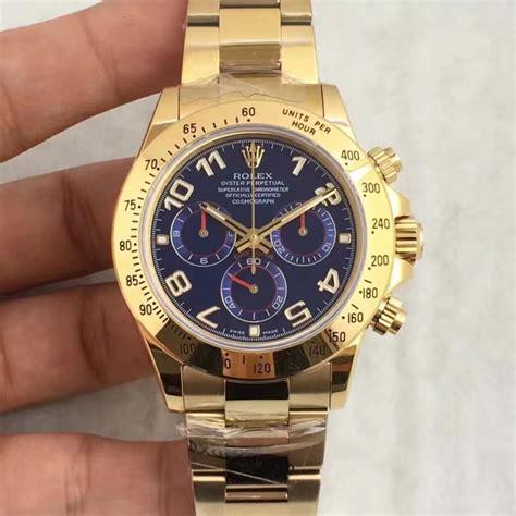 Rolex Daytona Blue Ultimate Clone 11 replica rolex daytona cosmograph 116508 jh yellow gold blue swiss 4130 run 6 sec