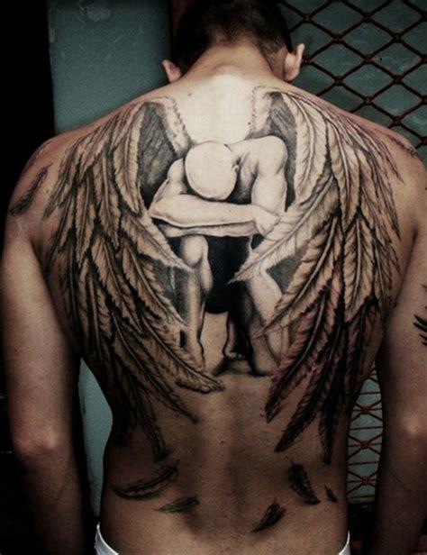 ideen fuer einen schoenen engelsfluegel tattoo die