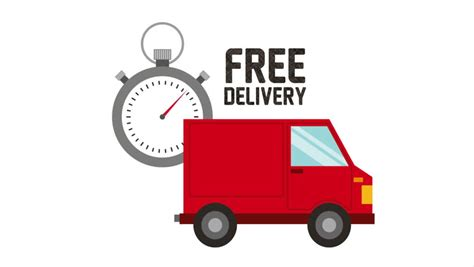 Free Delivery The Earth delivery on earth free shipping truck isolated stock