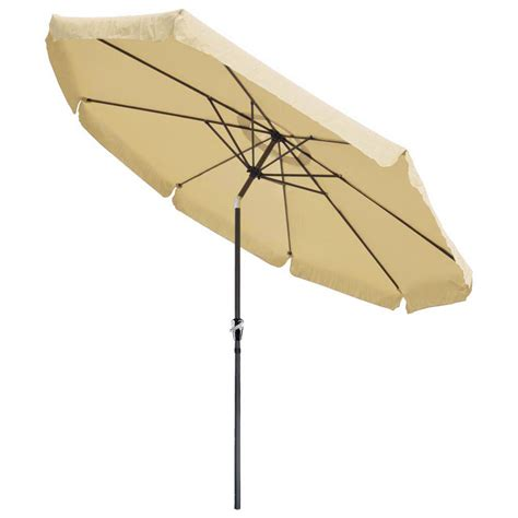 10 Foot Patio Umbrella 10ft Aluminum Outdoor Patio Umbrella W Valance Crank Tilt Sunshade Market Garden Ebay