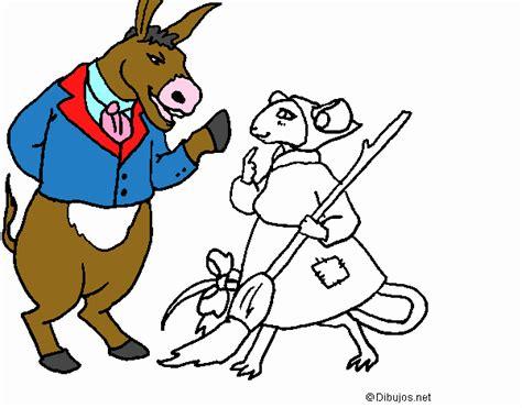 fabula de la ratoncita dibujo de la ratita presumida 9 pintado por en dibujos net