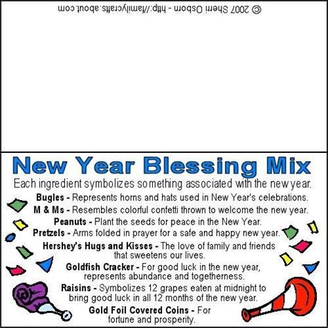 new year mix blessing mix care package ideas