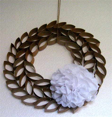 toilet paper roll wreath craft toilet paper roll crafts wreath
