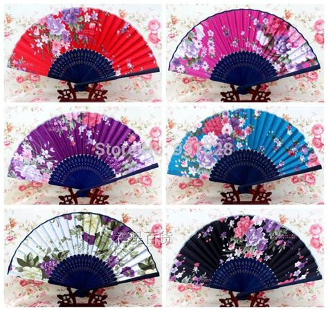 aliexpress buy bamboo paper fans printed