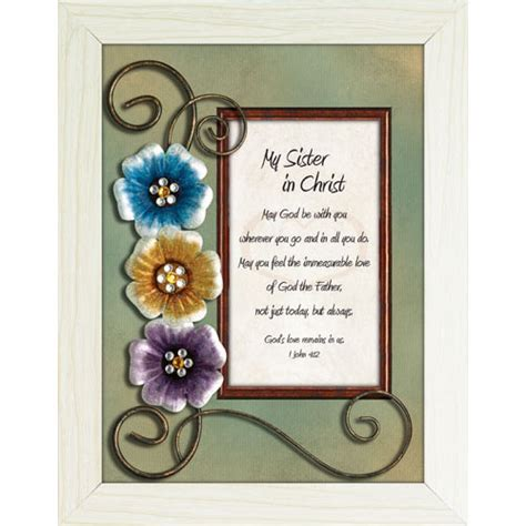 home interiors and gifts framed art my sister in christ framed christian tabletop home dcor