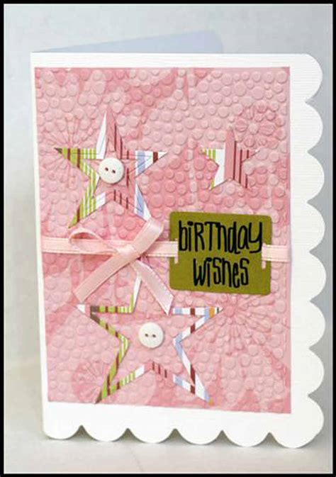 Embossed Birthday Card Ideas How To Use Cuttlebug Embossing Folders For Birthday Card