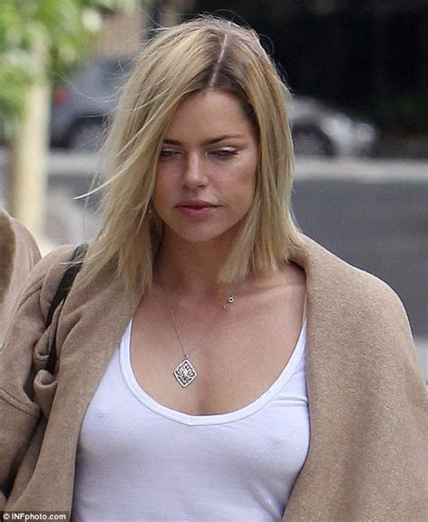 kim kardashian high school friend amanda sophie monk braless as she leaves the hairdressers after