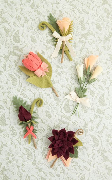 pattern for making felt flowers how to make the most gorgeous felt wedding bouquet