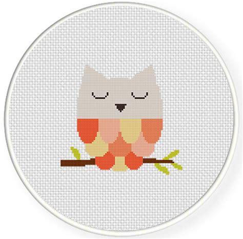Owl Birth Record Cross Stitch Owl Counted Cross Stitch Birth Record Grosir Baju Surabaya