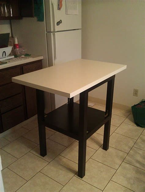 ikea kitchen island hack cheap and easy diy kitchen island via ikea hacks