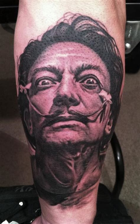 bob tyrrell tattoo salvador dali by bob tyrrell tattoonow