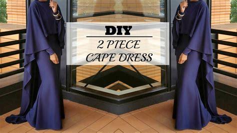 free sewing pattern hijab nadira037 diy how to make a cape maxi dress youtube