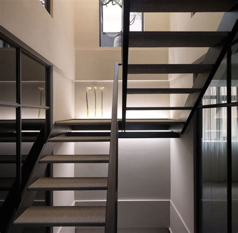 contemporary staircase multi level contemporary apartment