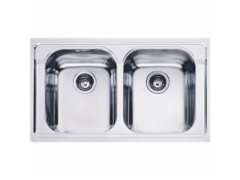 lavello inox 2 vasche lavello a 2 vasche da incasso in acciaio inox amx 620 by