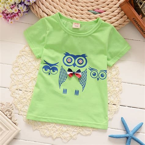 pattern design children s clothes 1 4t cotton boys t shirts kids clothing baby tee girls owl