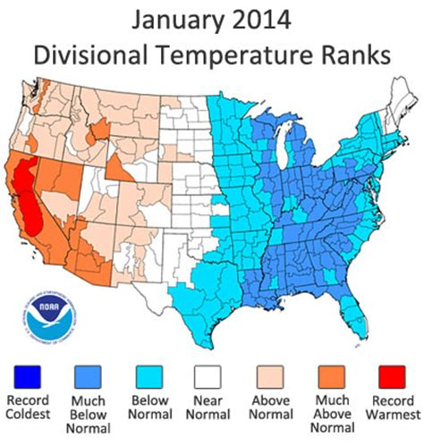 average temperature map usa january ncdc releases january 2014 u s climate report national