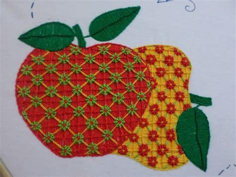 bordados de frutas en servilletas bordado fantas 237 a manzana semanario youtube