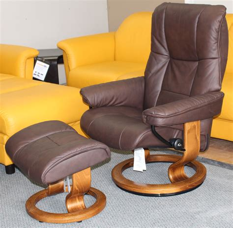 Small Leather Recliner Chair Stressless Chelsea Small Mayfair Chocolate Leather